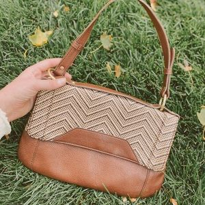 90s Woven Leather Purse